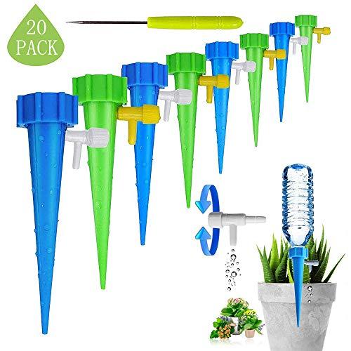 MonQi 20 Stück Automatisch Bewässerung Set , Bewässerung für Topfpflanzen, Einstellbar Bewässerungssystem Garten zur Pflanzen Bewässerung Bewässerung Ideal Wasserversorgung Während Ihrem Urlaub(20)