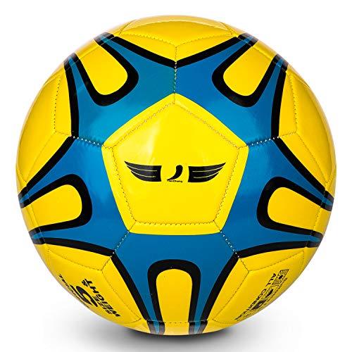 TianCheng Balón de fútbol de PVC+EVA tamaño 5, suave, ligero, adecuado para entrenamiento de fútbol Highliving tamaño 5, equipo profesional del club interior y exterior, 5 amarillo