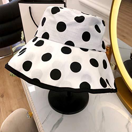 N\A Gorra de béisbol Gorra De Béisbol Moda Mujer Manchas Sombrero De Cubo Hip Hop Pescador Sombreros De Panamá Bordado Al Aire Libre Verano Otoño Casual Swag Bob Visor Bucket Cap