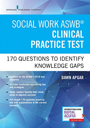 Social Work ASWB Clinical Practice Test: 170 Questions to Identify Knowledge Gaps (Book + Digital Access)