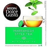 Nescafé Dolce Gusto Kapseln, Marrakesh Style Tea, Grüntee mit Pfefferminze, 48 Kapseln(3 x 16...