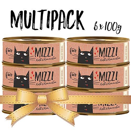 seit 1893 Bubeck Katzenfutter getreidefrei | mit Kalb & Kaninchen | hochwertiges Katzenfutter | 6 x 100g | Katzennassfutter Adult | hoher Fleischanteil
