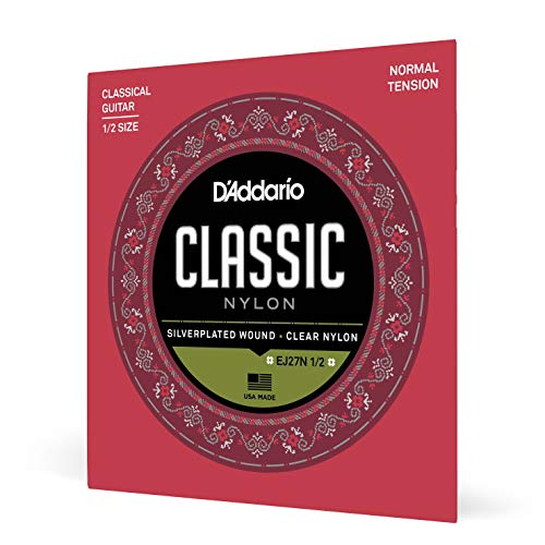 D'Addario EJ27N-1/2 Satz Nylonsaiten für 1/2 Konzertgitarre - Normal Tension