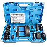 WISPAUSU Master Wheel Bearing and Hub Remover Installer, Bearing Removal from Spindle/Housing, Back/Front Wheel Bearing Puller, Back/Front Wheel Hub Puller Tool Kit