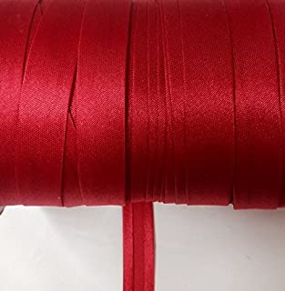 12 yards 5/8 inch Single Fold Satin Bias Tape 20 Different Colors In Red