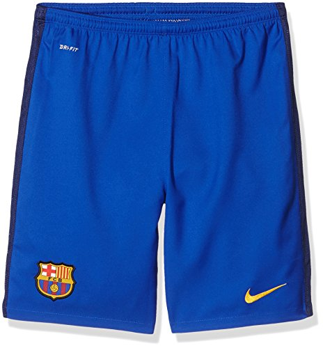 Nike 2015/16 Boys FC Barcelona Goalkeeper Stadium Soccer Shorts [Bright Blue] (XL)
