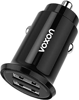 VOXON Mini Cargador de Coche Cargador para Coche 24W 4,8A con Doble USB Puerto Adaptador de Coche,Compatible con iPhone, iPad, Galaxy, LG Nexus y Más