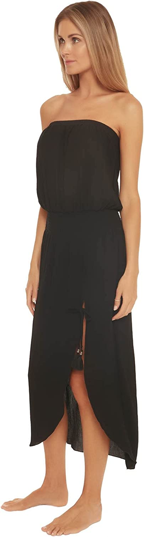 Becca by Rebecca Virtue Women's Strapless Pull Over Midi Dress Swim Cover Up