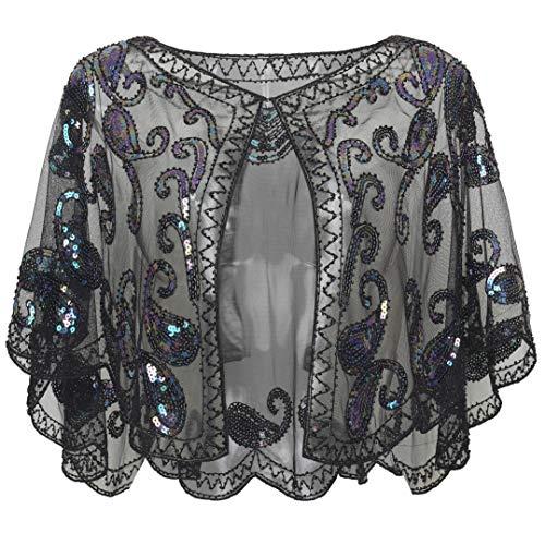ArtiDeco jaren 20 retro sjaal omslagdoeken voor avondjurken stola voor bruiloft party gatsby kostuum accessoires