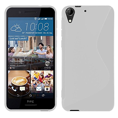 HTC Desire 728G Dual Sim - TPU Schutzhülle S-Style S Design Case Schutz Cover Etui Hülle in Weiß - RT-Trading