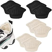Heel Grips Heel Cushion Pads - Self-Adhesive Shoe Inserts Liners for Men and Women's Slightly Bigger Shoes, Shoe Heel Pads for Preventing Heel Slipping, Rubbing, Unique Cuttable Design (4pairs)
