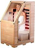 newgen medicals Sitzsauna für Zuhause: Kompakte Infrarot-Sitzsauna aus Hemlock-Holz, 760 W, 0,62 m² (Infrarotsauna)