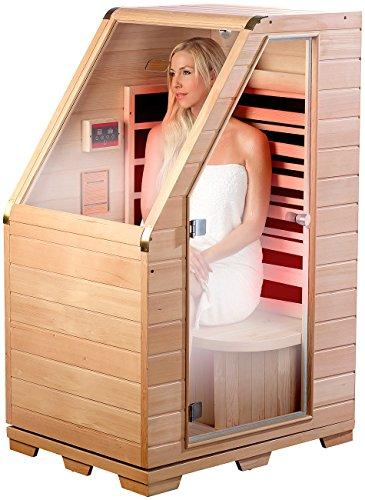 professionnel comparateur Sauna infrarouge compact en bois, 760W. [Newgen Medicals] choix