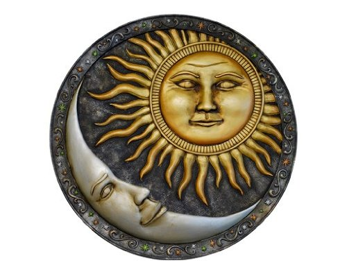 Apalis Wandtattoo No.459 Sun and Moon Astronomie Sonne Himmel Weltall Mond