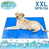 HueLiv Kühlmatte Hunde,Kuhlmatte Für Hunde Katzen Haustiere,Kühl Kaltgelpad für Katzen und Hunde Selbstkühlende Bett,benutzt als Kühlkissen Haustier,Blau XXL (96X81CM)