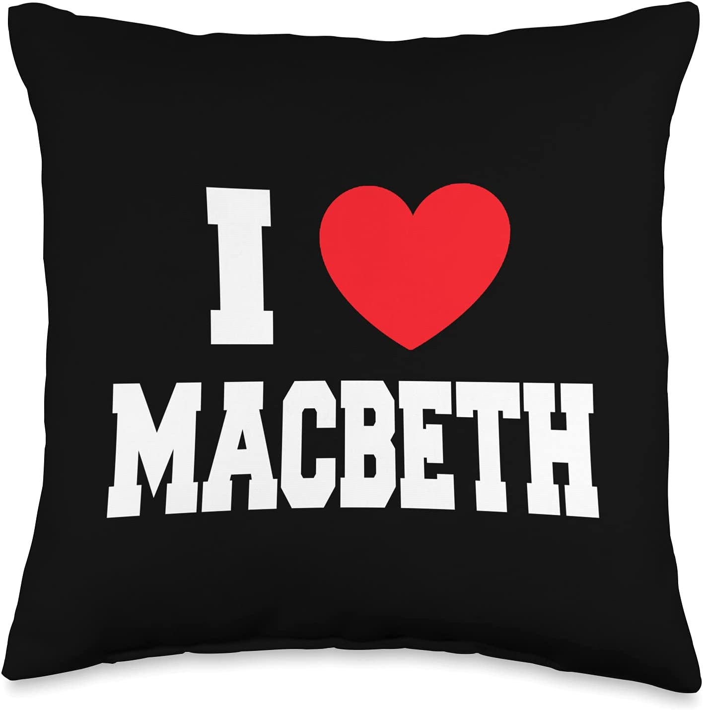 My 2021new shipping free shipping Regular store Heart I Love Macbeth Pillow Throw 16x16 Multicolor