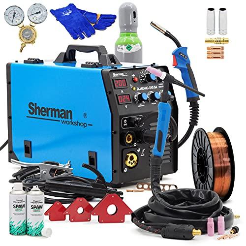 Sherman™ DUALMIG 210 S4 MIG/MAG Poste à souder Inverter 200 A sans gaz