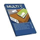 Apli - Etiquetas adhesivas multi3 para inkjet laser y fotocopiadoras cantos rectos 100 hojas 38 x 212mm