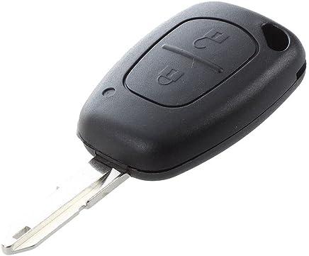 TOOGOO(R) Coque 2 boutons pour cle telecommande Renault TRAFIC MASTER KANGOO Opel Vivaro FOB case
