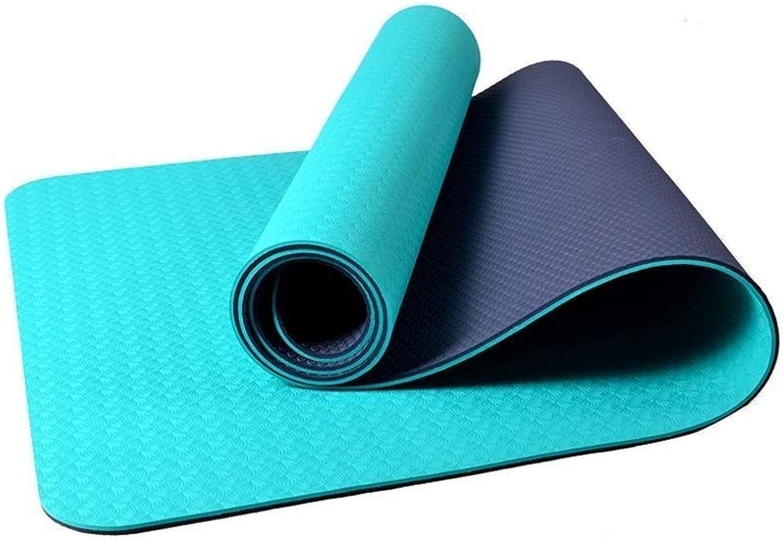 Pilates Mat Exercise Mat Portable Thin Mat Non Slip Yoga Mat Fitness Mat Large Sports Mat Durable Environmentally Friendly Material Thin Thick 4mm Multi color Optional (color   B)