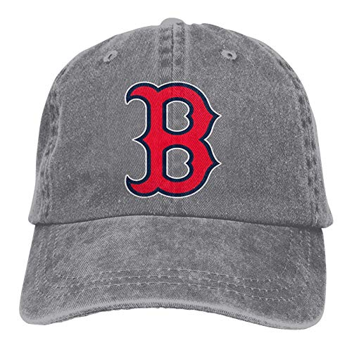 Boston R-ed S-ox Both Men and Women Outdoor Hat Adjustable Hat Baseball Cap Ponytail Hat Adult Cowboy hat Gray-one_Color-