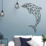 Opprxg Vinilo de delfín Auto-Papel Pintado Sala de Estar habitación de los niños calcomanía Mural 57cmX 83cm
