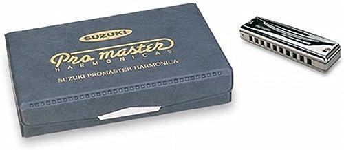 Suzuki MR350S Promaster Set 6 d'Harmonicas diatoniques en C/G/A/D/F/Bb 10 Trous Chrome