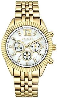 MESTIGE Womens Quartz Watch, Analog Display and Brass Strap MSWA3161