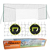 Open Goaaal USA - Soccer Goal Bundle Includes Standard Soccer Goal/Soccer Backstop/Soccer Rebounder All in One and Practice Targets (2 Pack) for Volley, Passing, and Solo Training