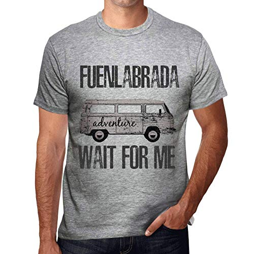 One in the City Hombre Camiseta Vintage T-Shirt Gráfico FUENLABRADA Wait For Me Gris Moteado
