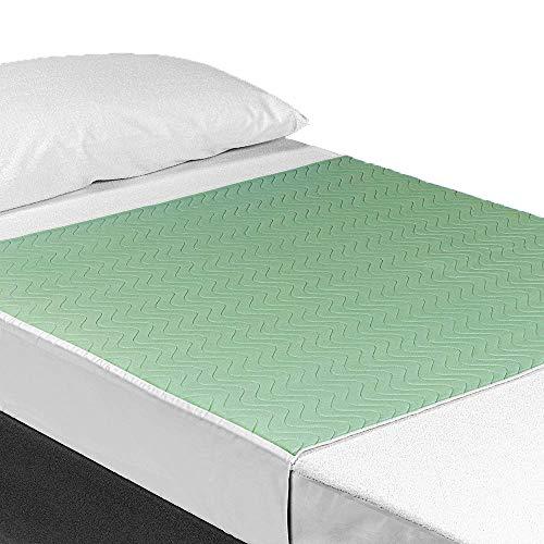 OrtoPrime Empapadores Cama Adultos Lavables Absorbentes 3,15 Litros/m2 - Mas de 200 Lavados - Empapador Protector Colchon Impermeable 4 Capas - Empapadores Bebe Protector de cama con Alas 90 x 85