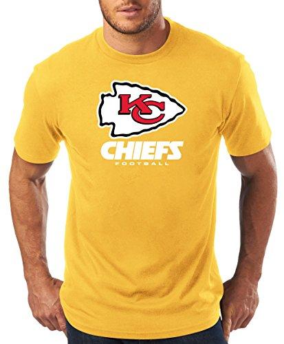 NFL Kansas City Chiefs Men S/S TEAM COLOR TEE, GOLD, 3X