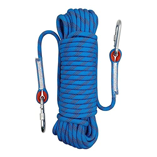 AIRUI Outdoor-Kletterseil, Durchmesser 10mm Kletterseil im Freien, Sicherheitsseil Geflecht Nylon Seil, Länge 10m Fluchtseil Rettungsfallschirmseil