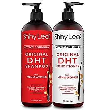 DHT Blocker Shampoo and Conditioner for Hair Loss With Biotin For Men Women Anti-Hair Loss Treatment Rosemary Leaf Oil and Asparagus Extracts for Thinning Hair  Shampoo and Conditioner