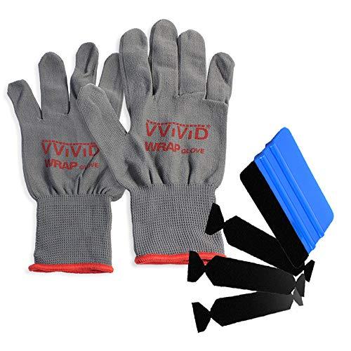 3M Hand Applicator Squeegee PA1-B Tool-Kit W/ 3x Felt Tips & Lint Free Gloves