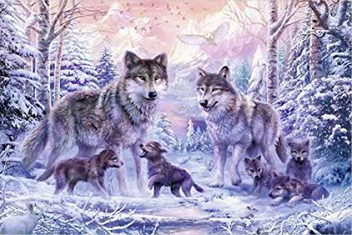 SKYTY Jigsaw Puzzles 1500 Pieces-Snow Wolf-Wooden Assembling Puzzles for Adults Kids Puzzle Toys home Puzzle games Educational Toys