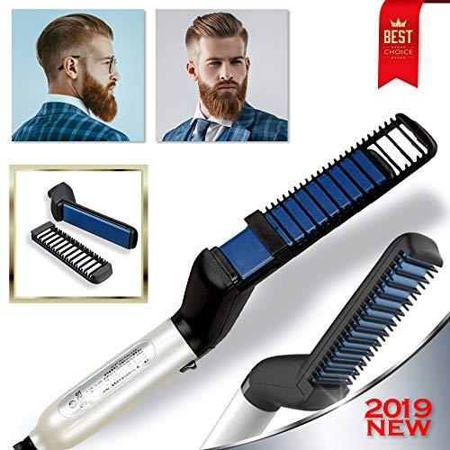Cutie Academy Ionic Beard Straightening Comb - Detangling & Volumizing & Styling Beard Straightening...