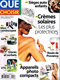 Que Choisir N°483 Juil 2010 Cremes Solaires