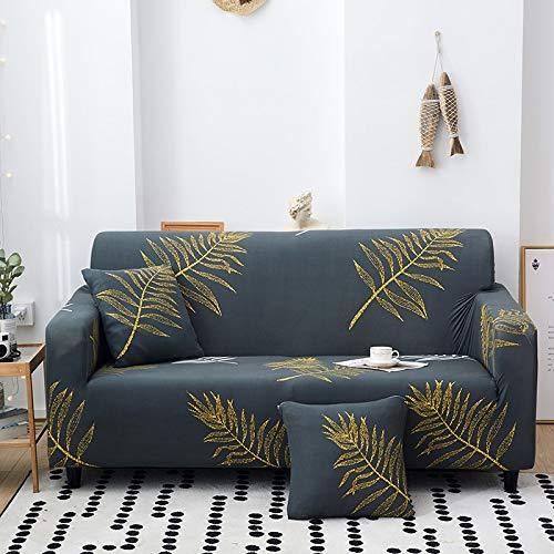 ASCV Neue Art geometrische Sofa-Schutzhüllen für Wohnzimmer elastische Stretch-Schonbezug Schnittsofa-Bezüge A17 2-Sitzer