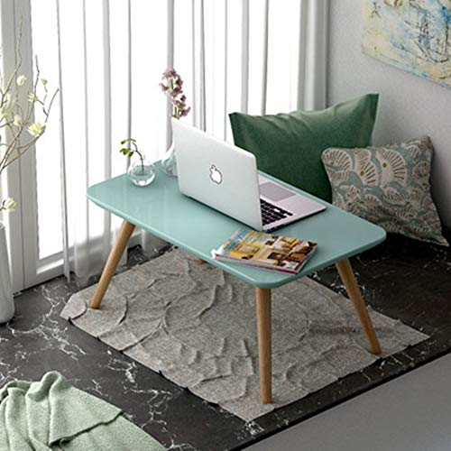 ZoSiP End Tables Low Table Small Fresh White Low Table Tatami Coffee Table Coffee Tea Sofa Side Table Family Living Room Tatami Table Chabudai Coffee Tables (Color : Green, Size : M)