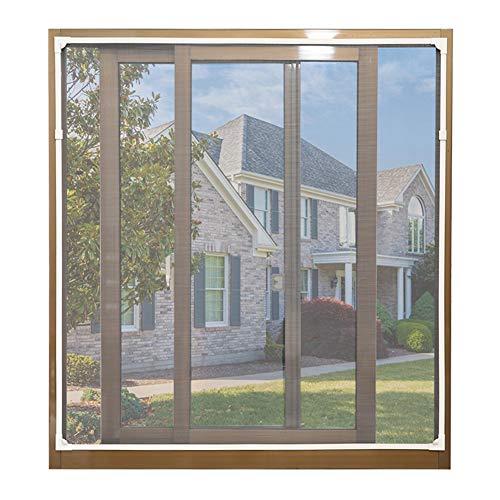 ANQI - Rete di sicurezza per finestra, per gatti, trasparente, zanzariera, rete magnetica anti-zanzare con 2 clip antivento, taglia 150 x 150 cm