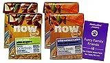 Now Fresh Wet Grain Free Pate with Bone Broth Cat Food Gluten-Free 2 Flavor Sampler Bundle - (2) Each: Pork, Wild Salmon (6.4 Ounces) - Plus Fun Animal Facts Booklet Bundle