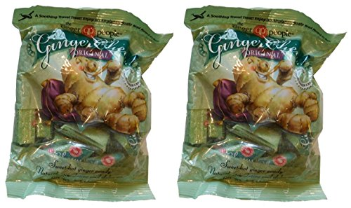 The Ginger People Original Ginger Chews, 5 oz (Pack of 2) Gluten Free by Royal Pacific Foods