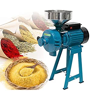 ABORON 2 IN 1 3000W Electric Corn Mill Grinder Heavy Duty Commercial Electric Feed Mill Dry Wet Grinder 110V Cereals…