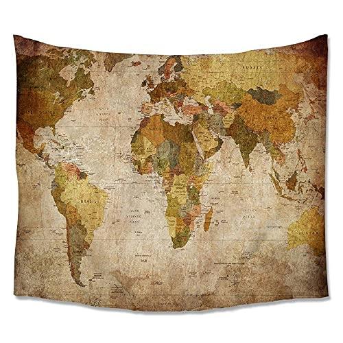 Tapiz para colgar en la pared Mapa del mundo Tapiz de pared para colgar en la pared Decoración de la habitación del dormitorio 150x100cm / 59x39inchch