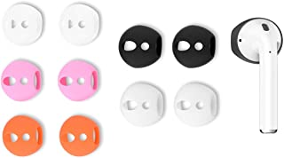 Zotech 5 pares de auriculares para AirPods 1 AirPods 2, almohadillas de goma superdelgadas y delgadas para auriculares de diadema para AirPods 1 y 2 (se ajustan en funda de carga)