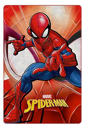 Characters Cartoons - Plaid in Pile 100x140 cm - Full Print - Bambini e Bambine (Marvel Spiderman Rosso 007)