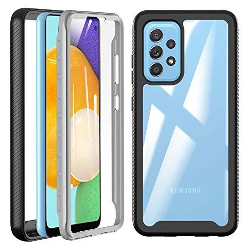 Für Samsung Galaxy A52 Hülle, A52 5G Hülle, 360° Rundumschutz TPU Robust Bumper Case Outdoor Handyhülle Mit Eingebautem Displayschutz, Stoßfest Kratzfeste Schutzhülle Cover für Samsung A52 5G   4G