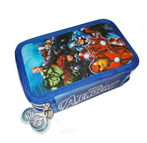 Los Vengadores- Plumier 3 Cremalleras Avengers PVC, Multicolor (AST1775)