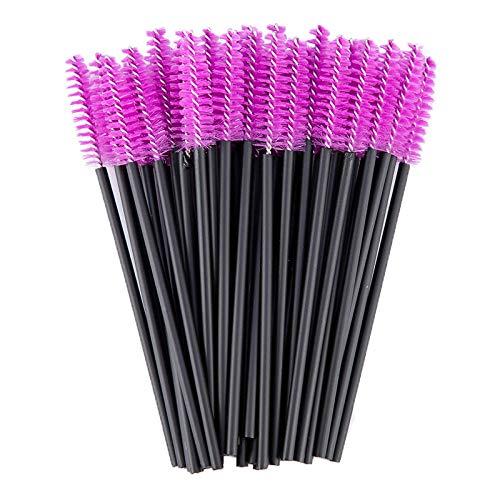 Bonne Qualité Jetable 200 Pcs/Pack Cristal Cils Maquillage Brosse Diamant Poignée Mascara Baguettes Cils Extension Outil-Violet Noir